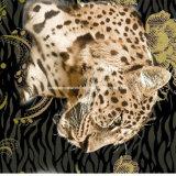 o leopardo Pigment&Disperse da selva 100%Polyester imprimiu a tela para o jogo do fundamento