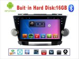 Navegación androide del coche DVD GPS del sistema para la pantalla táctil del montañés 2008 de Toyota con MP3/MP4/TV
