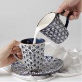 Taza de café de encargo de cerámica pintada a mano al por mayor