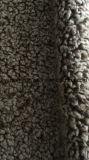 Ткань шерсти фальшивки шерсти Sherpa Bonding замши фольги курчавая для одежды