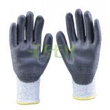 черные покрытие PU 13gauge/работа безопасности/анти- перчатки вырезывания