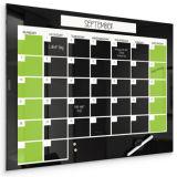 Annuellement/mensuellement par semaine magnétique sèchent le calendrier d'effacement/téléconférence en verre de planificateur avec le certificat de GV