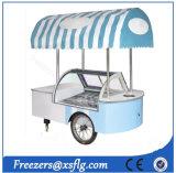 Carrelli refrigerati del gelato, carrello di Gelato, carrello italiano dei congelatori della vetrina di Gelato da vendere
