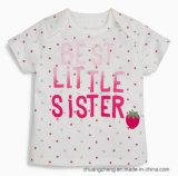 주문 아이 소녀의 인쇄된 면 t-셔츠