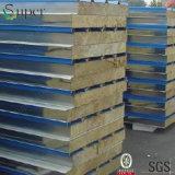 Pannelli a sandwich d'acciaio galvanizzati colore di Rockwool per i materiali da costruzione