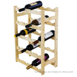Practical Wood 20-Bottle Wine Display Rack Free Standing Bottles Storage Shelf