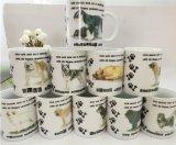 Vente en gros Tasses en céramique de 11 oz pour la promotion avec la conception de fleurs
