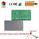 Il singolo formato dell'interno del modulo della grata LED di colore rosso di F3.0 P4 è 256X128mm, i pixel che i pixel è 64X32, 1/16 che scandice da Voltag costante