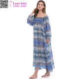 Femmes Summer Celeb Style Long Sleeve Maxi Long Beach Dress Ty1021