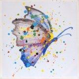 100%のホーム装飾のためのハンドメイドの多彩な蝶キャンバスの油絵