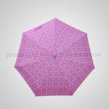 5折る手動方法パラソル5の折るアルミニウムギフトの傘(JF-MTT501)