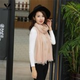 2016人の最新の女性の葉ホイルプリント細長い綿の麻布のスカーフ