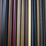 Cuero sintetizado superficial liso para los zapatos o los bolsos (HTS021)