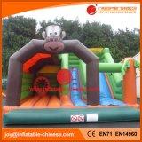 Opblaasbaar het Springen van het Thema van de aap Kasteel Combo voor Pretpark (T3-309)