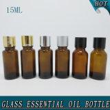 бутылка эфирного масла янтарной крышки запечатывания редуктора отверстия 15ml пластичной стеклянная