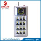 Luz Emergency recargable de radio del USB y de FM Protable LED