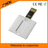 Weißes Squre USB-Blitz-Laufwerk mit farbenreichem Drucken