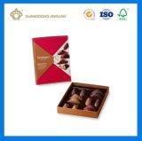 Vakje van de Gift van het Suikergoed van de Chocolade van het Document van de Luxe van de douane het Buitensporige Verpakkende (met het dienblad van de verdeler)