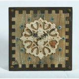 L'oggetto d'antiquariato cronometra l'orologio di parete di legno della decorazione domestica con Revit