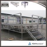 販売のための屋外の調節可能な携帯用アルミニウム段階のプラットホーム