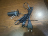 Cable eléctrico europeo vendedor caliente de la lámpara de la sal de la aprobación del VDE con el interruptor 303