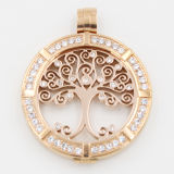 Meilleure vignette de la monnaie de l'arbre -33mm All Stainless Steel with IP Rose Gold Plating