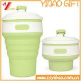 FDA Kop van de Koffie van het Silicone van de Rang van het Voedsel 350ml de Vouwbare voor Reis (x-y-Sc-004)