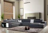Sofà del salone con il sofà d'angolo moderno del LED con la L a forma di sezionale
