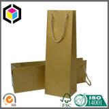 Bolsa de papel del regalo de la joyería de la insignia de la hoja de plata