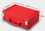 Rectángulo de joyería portable de múltiples funciones tejido de moda del modelo