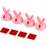 Cintas plásticas da borracha de silicone da orelha de coelho para o USB do cabo do fio