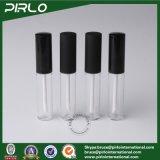 8g 8mlは無光沢の黒いブラシの帽子ペット液体の口紅のパッキング管の装飾的な構成のリップの光沢のびんが付いているプラスチックリップの光沢の管を取り除く