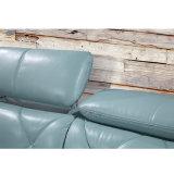 Korea-Art-modernes echtes Leder-Sofa-Bett für Schlafzimmer-Möbel - Fb8151