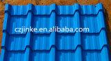 機械を作る石造りの上塗を施してある金属の屋根瓦を着色しなさい