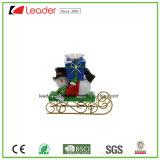 De Ornamenten van de Houder van Snowmantealight van Polyresin voor de Decoratie van Kerstmis