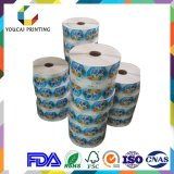 Etiqueta auto-adesiva de papel Peinted personalizado para garrafa