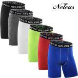 Neleo Hombres de compresión cortos Fitness Gym Ropa Legging Dk0146