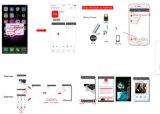 Cable USB para iPhone Carga con lector de tarjetas 2 en 1 lector de tarjetas de cable USB (OM-RC002)