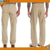 Le travail large de coton de pantalons de patte d'hommes d'OEM d'usine halète des pantalons