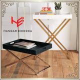 Угловойая таблица стороны книжных полок шкафа вина мебели нержавеющей стали шкафа цветка журнального стола таблицы (RS161301)