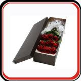 Rectángulo de empaquetado de la cartulina del papel del regalo rígido de encargo de la flor