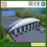 Tenda del parcheggio della stazione ferroviaria con la struttura della membrana di PVDF