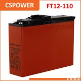 FT12-105 China Manufacturing 12V105ah Telecom Battery Front Terminal Access Battery