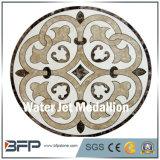 Medallón de mármol de piedra del suelo del mármol y del Onyx del jet de agua de la dimensión de una variable redonda para el proyecto del chalet