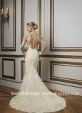 Lange Hülsen-Brautballkleid-Hüllen-Hochzeits-Kleider Bz1064