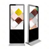 Крытый пол стоя индикация монитора рекламировать экрана LCD касания 65 цифров дюйма