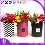 Boîte-cadeau de empaquetage de papier de fleur ronde imperméable à l'eau de tube de Rose