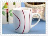 卸し売り安い手の絵画縞の陶磁器のコーヒー・マグ