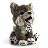 Giocattolo della peluche del lupo farcito abitudine