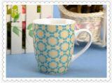 Tazas de café de cerámica de la mano de la raya barata al por mayor de la pintura